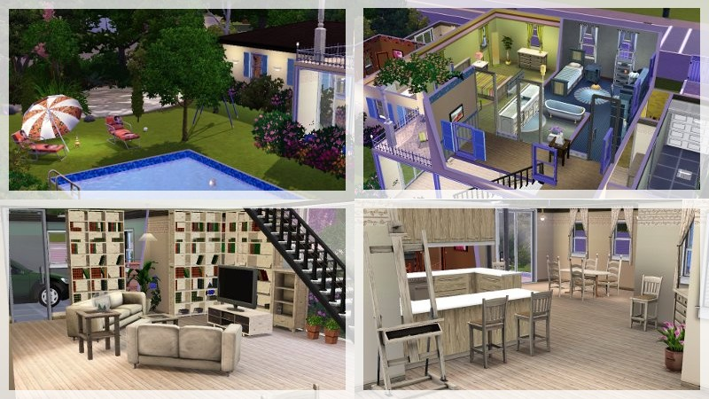 Simsorama agence immobili re sims 3 for Visite virtuelle maison moderne