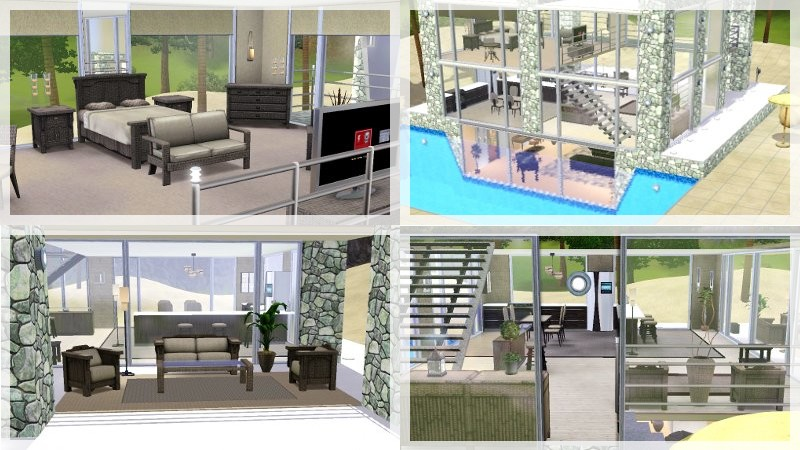 Beautiful Maison Moderne De Luxe Sims 3 Pictures - Amazing House ...